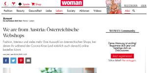 woman.at Öesterreichische Onlineshops