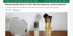 Tiroler Tageszeitung Naturkosmetik-Test