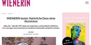 WIENERIN Testbericht aluminiumfreie Deos ACHSELKUSS