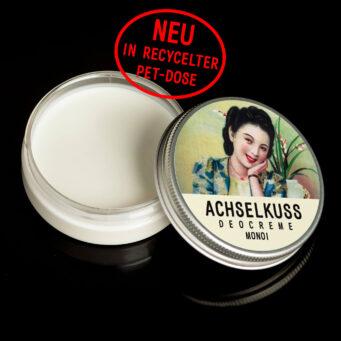 ACHSELKUSS Deocreme Monoi recycelte PET-Dose